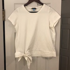 J.crew Tie bottom white tee